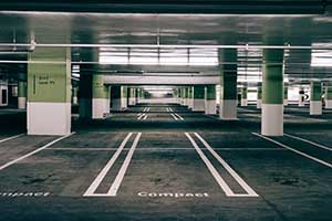 Photo of Parking Space Inside of Garage